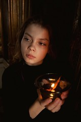 Intentio {6} (dewframe) Tags: church timeoftruth pointofview girl mood golden darks religion youth
