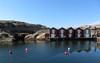 smögen (helena.e) Tags: helenae älsa motorhome rv smögen påsk easter sjöbod bro bridge reflection himmel blå blue