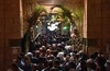 Sufi Muslims enter Al Sayeda Zaynab mosque to receive blessings from her shrine. (Haleem Elsha3rani حليم الشعراني) Tags: cairo egypt sufi religion religious northafrica africa middleeast middleeastern muslim islam music mosque dancing amusment