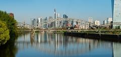 Skyline Frankfurt, Osthafenbrücke (Frawolf77) Tags: frankfurt panorama skyline osthafenbrücke deutschherrnbrücke ezb cityscape germany hessen city stadt ffm