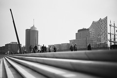 Hamburg by Zaha Hadid (mripp) Tags: art vintage retro old black white mono monochrom city urban stadt hamburg zaha hamid leica m10 summilux 50mm architecture architektur