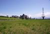 河堤邊 (moseskim27) Tags: contaxaeg25mmf28 taiwan zhubei distagon t carlzeiss cy sky f22 竹北 building germany