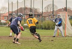 in on goal (tramsteer) Tags: tramsteer lacrosse sport heatonmerseylacrosse heatonmoor stockport manchester field ball goal net team nela nemla