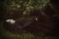 dark sleep (dolls of milena) Tags: bjd abjd resin doll elfdoll emma sleeping reminisce crow raven dark black