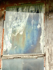 (#avril#) Tags: window disrepair vacancy curtain door