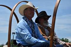 Wagons For Warriors - Route 66 (Adventurer Dustin Holmes) Tags: 2018 parade wagonsforwarriors route66 missouri male men cowboys people