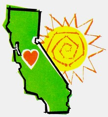 State of California Illustration 1960s (hmdavid) Tags: california state illustration 1960s midcentury art heart sun