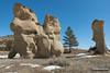 Turned to Stone (kevin-palmer) Tags: custernationalforest montana ashland sandstone rockformation pillar march spring sunny blue sky snow nikond750 tamron2470mmf28