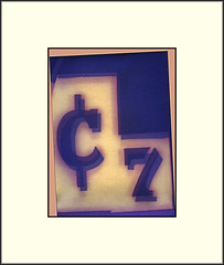 ¢ 7 (Bob R.L. Evans) Tags: centsymbol photogram limenprint 7 numberseven unusual abstract surreal irreverent composition
