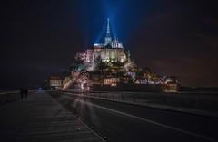 The magic hill (karinavera) Tags: city longexposure night photography cityscape urban ilcea7m2 montsaintmichel france
