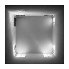 Lluerna / Skylight. (ximo rosell) Tags: ximorosell bn blackandwhite blancoynegro bw buildings arquitectura architecture abstract algemesi minimal llum luz light squares finestra ventana algemesí valencia poliesportiujoangirbes nikon d750