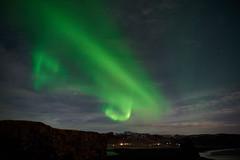 Kirkjufjara_aurora_L1090503 (nocklebeast) Tags: auroraborealis iceland kirkjufjarabeach nrd aurora stars ocean beach vik southcoast
