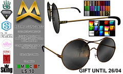 <MK> Retro Sunglass - Gift 2018/02 (Mat Kungler Atelier) Tags: mk mat kungler atelier hautecouture mens wear cap body suit catsuit latex clothes acessories pants jeans sweater top tank shirt wool hoodie hair skin coat jacket denim mesh avatar luomo underwear swinwear brief chaps shirts tshirt leather animal texture short plaid jock hud hoddie sleeves neck mask boot shoes gloves second life thong lace toptank suitunder zodiac sign victorian gothic dark aesthetic niramyth the project tmp sking bimbo gianni signature