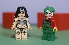 The Joker has decided to hook up with the Enchantress for a scam (N.the.Kudzu) Tags: tabletop lego minifigures enchantress joker primelens canondslr manualfocus lensbabyvelvet56 dxoopticspro11