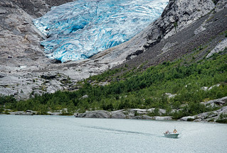 The magical blue colors of the Nigardsbreen I