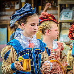 Young Girls of the Queen's Cout (Kevin MG) Tags: renaissancefaire renaissance renfaire faire outdoor costumes performers kids children childhood royal court young youth cute pretty little
