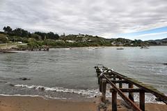 Moeraki Village...... (flying-leap) Tags: newzealand nz southisland landscape seascape cloudsstormssunsetssunrises clouds boats coastline coast coastnz sony sonydscrx10m4 sonydscrx10iv sonyrx10iv nzcoastline moerakivillage northotago fishingboats jetty
