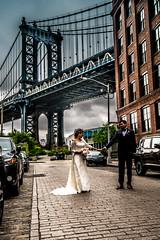 Washington Street Wedding (ashwaters77) Tags: wedding people bride groom manhattan bridge architecture street washington travel nature colors white gown dress bridal moments