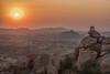 hampi sunset (sami kuosmanen) Tags: asia india intia maisema luonto light landscape sky valo värikäs vuori sun sunset taivas outdoor orange yellow guard post rock geology granite