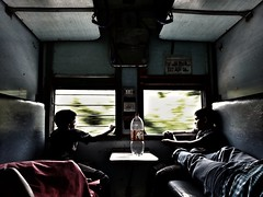 Eternal memories are knitted when the innocence of childhood comes to know of the mysteries of life... (aleef jahan) Tags: travel kerala train parents children childhood innocence love stories family