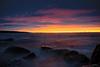 (MCarrabs) Tags: sunset beach long exposure island glen cove new york morgans park water ocean sand rocks