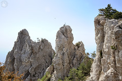 Flying Over Figured Teeth at the Top of Ai-Petri Mount (Guide, driver and photographer in Moscow, Russia) Tags: russia crimea yalta aipetri mountains rocks figuredteeth ridges peak pinetrees ru