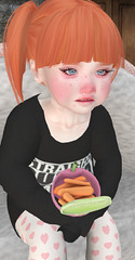Sad Sick & Sniffly (monstraus.morbid) Tags: sl secondlife little baby toddler toddleedoo daughter sister snack carrots pouty sad sick sniffles pain naptime fever