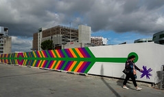 My Magic Wand (Jocey K) Tags: newzealand nikond750 southisland christchurch cbd people cathedralsquare clouds sky artwork mural streetart buildings architecture