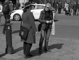 Manchester BID Information Officer helps passerby