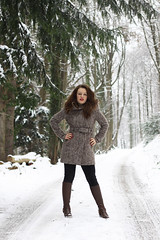 Ana-Laura 37 (The Booted Cat) Tags: sexy girl model snow boots cowboyboots tight jeans