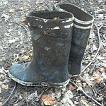 142 - AIGLE Wellworn Wellies filled with mud ( Rubberboots Gummistiefel Laarzen thumbnail