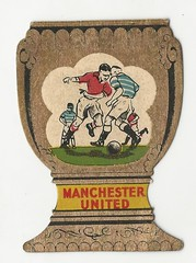 """A & J Donaldson[Glasgow] """"Gold Cup"""" Trade Card Manchester United issued in 1955 (Leslie Millman-Manchesterunitedman1) Tags: manchesterunited ajdonaldson glasgow 19556 champions"""
