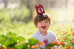 Sweet sweet May (Bai R.) Tags: may happy joy happiness girl toddler birthday first child children childhood smile laugh beautiful sweet flowers purejoy