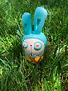 Zombie Bunny in Grass (welovethedark) Tags: zombiebunny k2toy vinyltoy arttoy