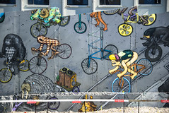 Up and Down Hills (Jocey K) Tags: newzealand nikond750 christchurch building artwork mural streetart wall