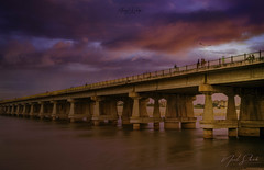 Dusk at River front (Alacrity_Of_Shutter) Tags: bridge river dusk sunset clouds nature pics popular tags colors 500pxreflection 500pxnostalgia reflections riverbank long exposure natgeo cityscape landscape ahmedabad gujarat india 500px alacrityofshutter