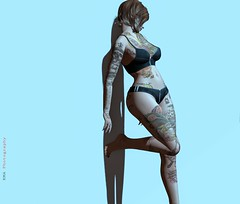 - Irresistible(2)- (kes.myas) Tags: maitreya meshbody meshavi woman women secondlife sexy sl standingpose shadow tattoo expression erotic emotion exxess lelutkameshhead insanya