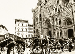 Florence Cathedral, sepia photo (morgansalamone) Tags: cathedral wonderful sepia reflection texture trip town italy italia streetphotography street day cityscape city lovely beauty outdoor cute light view air life film history holiday contrast people art architettura april vacation landscape edificio old firenze love lens exposure città monochrome