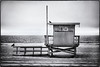 18th Street. (drpeterrath) Tags: canon eos5dsr 5dsr bw blackwhite beach ocean pacific lifeguard birds moody coast seascape landscape water outdoor sky losangeles manhattanbeach canoneos5dsr california naturallight