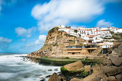 Azenhas do Mar (Hugo Carvoeira) Tags: azenhas do mar portugal sintra cliff natural pool rocks cloud sea atlantic town