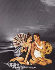 Have a Coke and a Smile at Sunset on the Coast (Angie Naron) Tags: art collage collagebyangienaron seashells seaside vintagecocacolaillustration cocacola thekollagekit wwwkollagekitblogspotcom maureenosullivan johnnyweismuller
