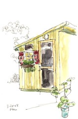 032818_Green Garden Shed (calliartist) Tags: buildingsketches penandink sketches sheds sheddrawings shedsketches