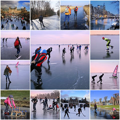 Lovely skating days in March of 2018 (B℮n) Tags: fdsflickrtoys loenderveenseplas loenderveense plas loosdrechtse plassen oudloosdrecht horndijk noordholland nederland holland netherlands skating ice schaatsen noren viking 2018 3maart2018 koud temperatuur vorst zwart ijs glad ijspret winter dutch skaters freeze terranova natural cold speed gekte paradise surface lakes glide gliding adventure schaatsliefhebbers vaarverbod water brasem wide skate weather weer plezier fun oud jong weids icy train stroller babycarriage buggy tradition weerribben 2maart2018 mosaic collage best collection