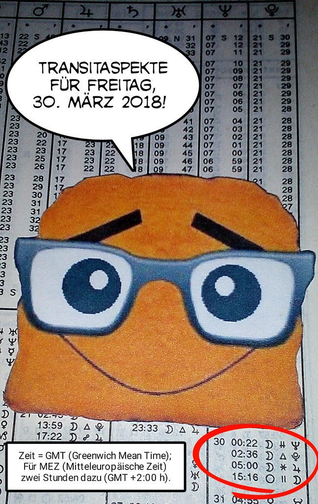 Ephemeriden für Freitag, 30.03.2018