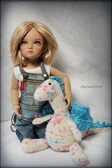 Freckles Rule! (DramaDoll1) Tags: knitting dragon lt iplehouse bid sockmadness12 bonnie