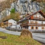 Bavarian style houses under a cliff near Oberaudorf, Bavaria thumbnail