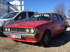1980 Mitsubishi Galant Colt Sigma (Older and rare cars in Norway) Tags: mitsubishi galant 1980 sedan red winter classic vintage