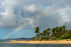 Rinbow Over Poipu Beach, Kauai, Hawai'i, USA (takasphoto.com) Tags: 80400mmf4556dvr afvrzoomnikkor80400mmf4556ded america arcoiris arena beach bãibiển coast coastal cobblestones color colorful colors d610 eeuu estadosunidos fullframe grava gravel greenplants hawaii island kauai kauaʻi kingdomplantae landform lens mar mare mer nature nikkor nikkor80400mm nikkor80400mmf4556dafvred nikkorlens nikon nikond610 northamerica ocean oceansea oceanea oceano outdoor pacific pacificocean palm palmtree palmtrees pebbles plage plantae playa plaża poipubeach poipubeachpark polynesia praia rainbow rock sand sea seascape shingle strand supertelephoto telephoto tree usa unitedstates unitedstatesofamerica