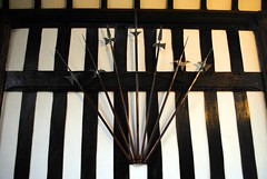 Armoury (zawtowers) Tags: ruffordoldhall rufford lancashire national trust property hesketh family residence gradei listed building built 1530 historic house great hall oldest part dating back 16th century tudor era weapons sharp point armoury