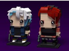 Parzival & Art3mis, Ready Player One BrickHeadz MOC (headzsets) Tags: lego legophotography legobricks legomoc legomocs mocs legobrickheadz brickheadz brickhead readyplayerone art3mis parzival gunter ernestcline